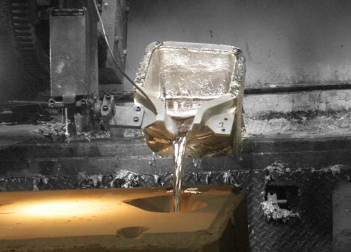 Sand Castings Ladel Pouring Liquid Metal